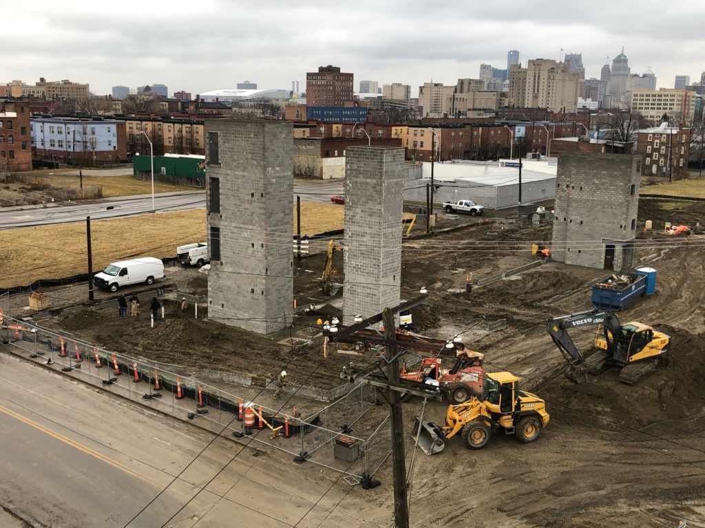 midtown west detroit progress photo march 6 2020